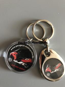 Peugeot Metropolis Schlüsselanhänger Set