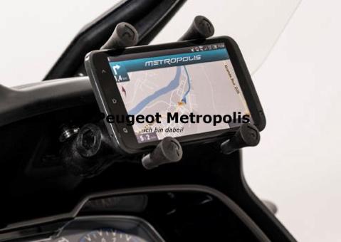 peugeot metropolis 400 smartphone halter in navigation. Black Bedroom Furniture Sets. Home Design Ideas