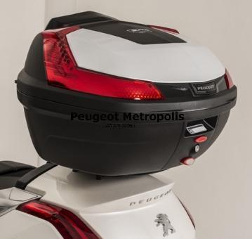 Peugeot Metropolis 400 Topcase Deckel Schnee-Weiss