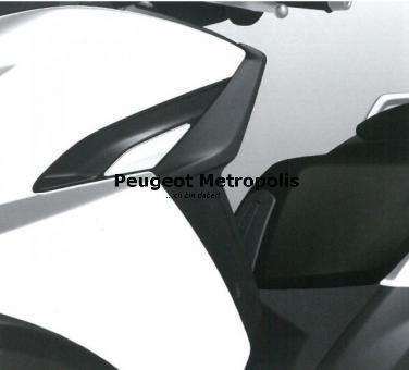 Peugeot Metropolis 400 Seitliche Windabweiser Schwarz
