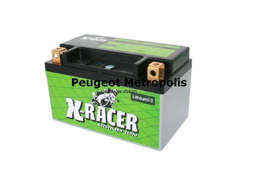 Starterbatterie Unibat X Racer Lithium 10 CBTX14H-BS im Set mit Unicharger 12V 1Ah Lithium Ladegerät
