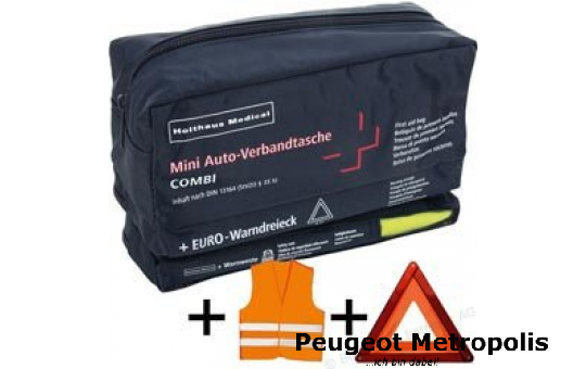 Mini-Verbandtasche + Warndreieck + Warnweste