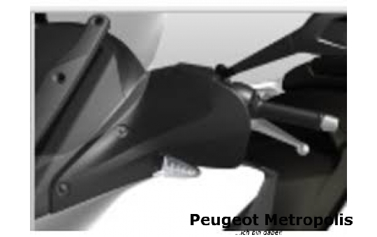 Peugeot Metropolis 400 Handschutz Schwarz