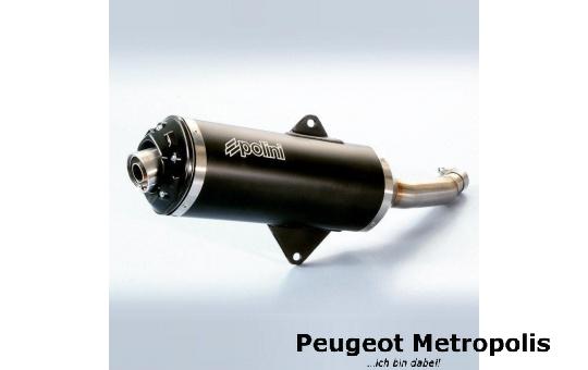 Auspuff POLINI Racing Black Peugeot Metropolis