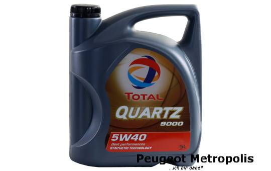 TOTAL QUARTZ 9000 5W-40 - 5 Liter Kanne