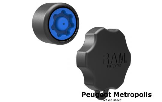 RAM-MOUNT 7Pin-Lock Sicherung und Adapter B-Kugel