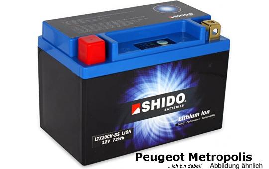Shido Lithium Batterie YTX20CH-BS